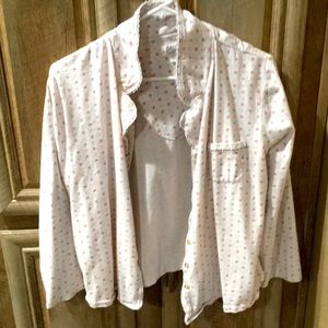 Pretty Pre-Owned Size Large Pajamas (Button Down)